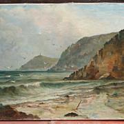 SALE Cornwall painting..Coastal Cornwall oil painting..