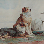 SALE Collie dog painting....Painting of two Collie dogs....