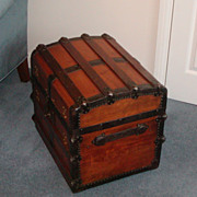 SOLD Half trunk....Old trunk....Antique trunk....