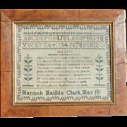 SALE Sampler...Needlework sampler 1800's...Antique sampler....