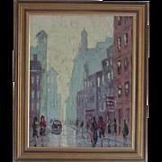 Oil painting....Paris street scene painting....
