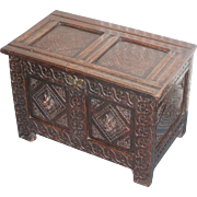 Chest...Trunk...Carved chest...17th. Century chest...