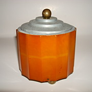 Vintage Bakelite Musical Powder Box