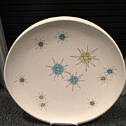 SOLD Franciscan Starburst Dinner Plate 1950's