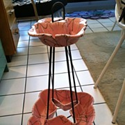 SOLD Smoking Stand by Hall pink and black
