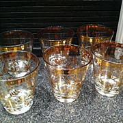 1950's Georges Briard Double Old Fashion Glasses