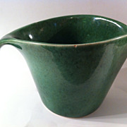 Country Gardens Green Pitcher by Mary Wright