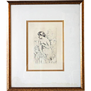 SOLD PIERRE-AUGUSTE RENOIR Etching, Baigneuse debout, a mi-jambes