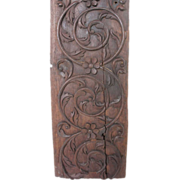 Large Indo-Portuguese Carved Teak Ceiling Panel c. 1600s