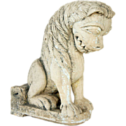 18th/19th century Indian Stone Vyala Architectural Lion Bracket