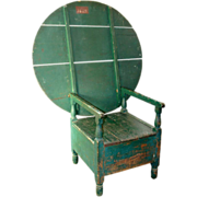 American New England Painted Pine and Maple Chair-Table