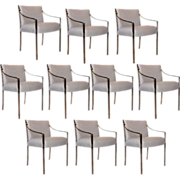Set of 10 American Bert England for Stow and Davis Chrome Chairs