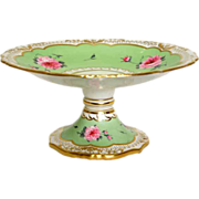 SOLD English Victorian Porcelain Footed Cake Stand
