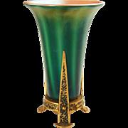 American Durand Green Art Glass Table Lamp
