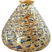 Large 6.5 in. American Durand Art Glass Moorish Crackle Lamp Shade