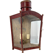 Anglo Indian Painted Iron Two-Light Wall Lantern