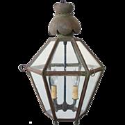 Antique English Toleware Hanging Lantern