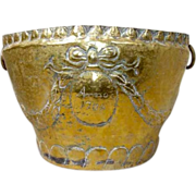 Early 18th Century Swedish Repousse Brass Planter