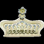 Large Swedish Art Nouveau Majolica Crown / Stove Pediment Wall Plaque