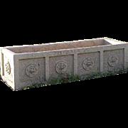 American Neoclassical Glazed Terracotta Garden Planter Box