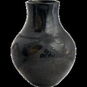 Native American San Ildefonso Blackware Pottery Vase