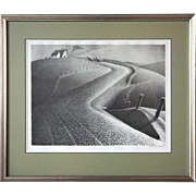 SOLD GRANT WOOD Lithograph, March