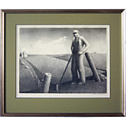 SOLD GRANT WOOD Lithograph, In the Spring