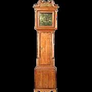 18th Century English George III Oak Longcase Clock