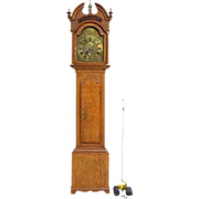 18th century Scottish Charles Allan Oak Grandfather Clock