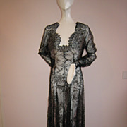 SOLD Unbelievable!! Vintage 1930s Gown Chantilly Lace From Head to Toe