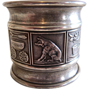 SOLD Antique Sterling Silver Napkin Ring Nursery Rhymes Figural