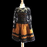 Gorgeous! Couture Oscar de La Renta 80s Cocktail Dress