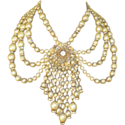 The Most Gorgeous MIRIAM HASKELL Festoon Swag Necklace Ever!!