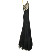 SOLD Exquisite 1930s Silk & Lace Evening Gown With Matching Bolero
