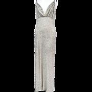 SOLD CHAPMAN DESIGN Glass Beaded Vintage 1960s Evening Column Gown