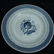 Royal Copenhagen Tranquebar Blue Faience Salad Plate