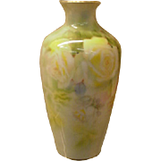 REDUCED Royal Bayreuth Porcelain Vase Her Majesty Yellow Roses