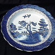 "Booth's Real Old Willow Plate, 10"" Dinner, Scalloped Rim, England"