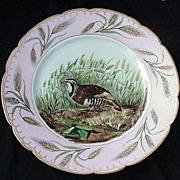 Charles Field Haviland Porcelain Bird Plate w Wheat