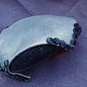 SALE Sassy Cocktail Hat, Black Velvet, 1940s, Hattie Carnegie