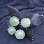 Vintage Cluster of Hardstone Jade Cherries