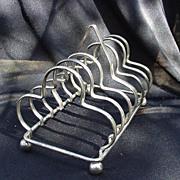 Vintage Silverplated Toast Rack