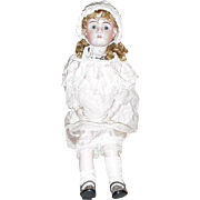 Life Size Heinreich Handwerck Doll, Open Mouth, Sleepy Blue Eyes