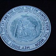 Staffordshire Nursery Rhyme Plate, Hey Diddle Diddle