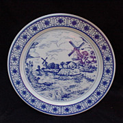 Germany Porcelain Plate, Windmill Scene
