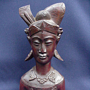 Balinese Wood Carving of Male Deity or Royalty