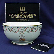 SALE Vintage Lenox Porcelain and Smithsonian Collection General  Washington Bowl
