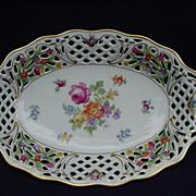 SALE Schumann Bavaria, U.S. Zone, Germany, Porcelain Bowl, Dresden Flowers