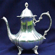 Vintage Silverplated Coffee Pot, Lancaster Rose by Poole