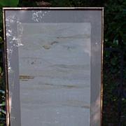 SALE Framed Japanese Textile, Fringed Edge, Stamped with Artist Seal, Censor's Mark
